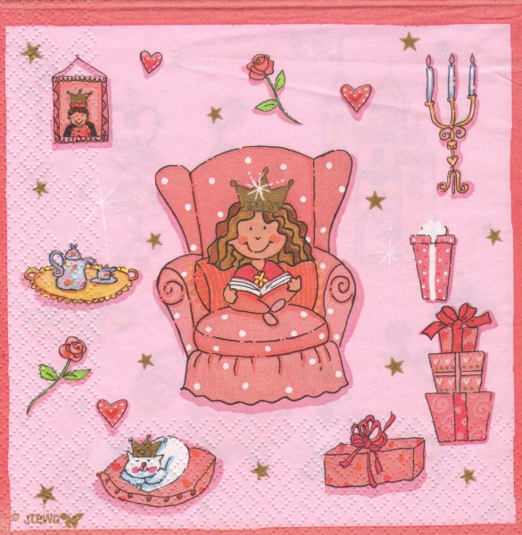 """Serviette - Kinder """"Prinzessin"""""""