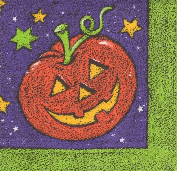 """Serviette - Halloween """"Kürbis mit Sternen"""""""