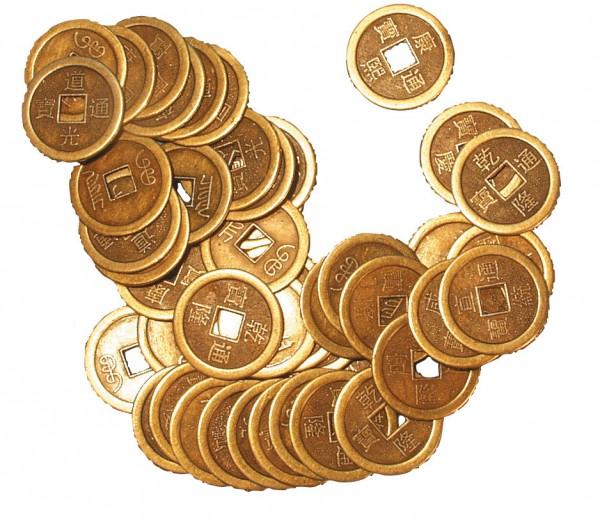 Chinesische Münze einzeln 2,5cm