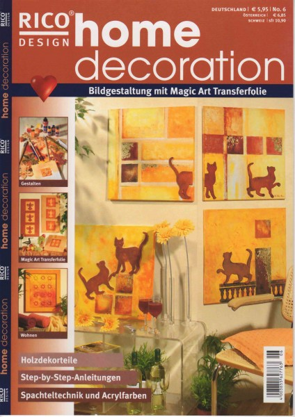 RICO DESIGN home decoration No. 6 - Bildgestaltung mit Magic Art Transferfolie