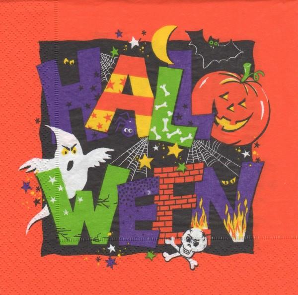 "Serviette - Halloween ""großes Motiv"""