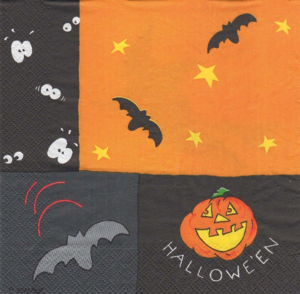 "Serviette - Halloween ""Fledermaus"""