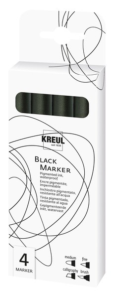 KREUL Black Marker 4er Set