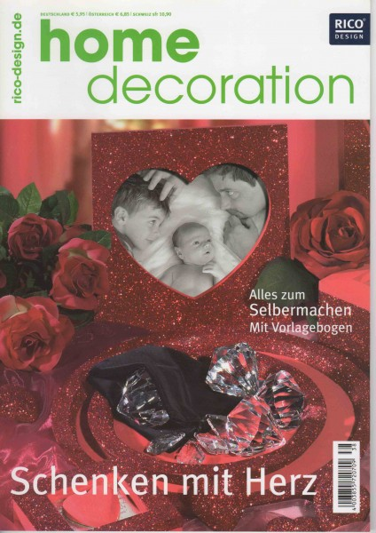 RICO DESIGN home decoration No. 38 - Schenken mit Herz