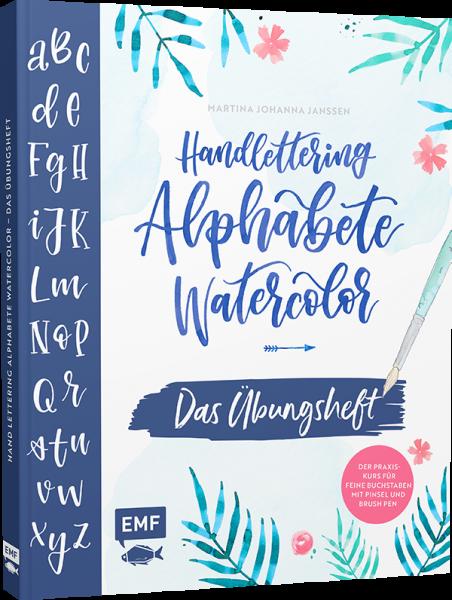 Handlettering Alphabete Watercolor - Das Übungsheft