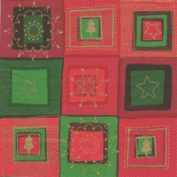 """Serviette - Weihnachten """"Sterne"""""""