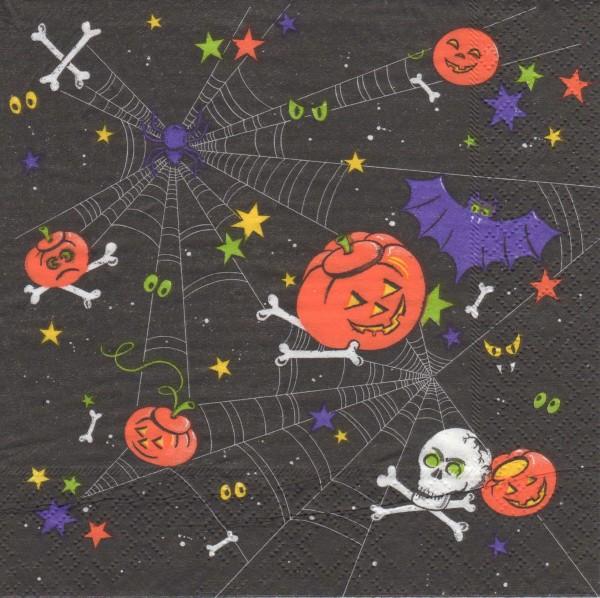 """Serviette - Halloween """"Spinnennetz"""""""