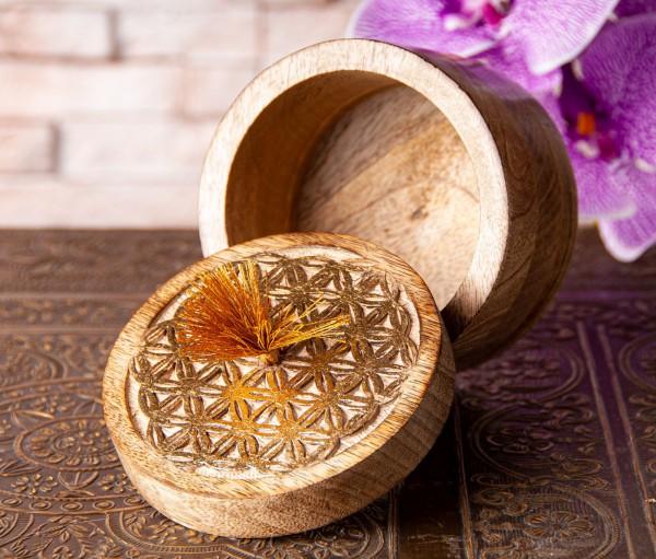 Blume des Lebens Schatulle Holz, klein