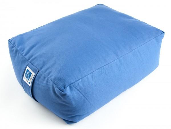 Quader Kissen mit Buchweizen, blau