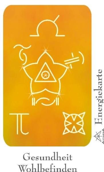 Energiekarte - Symbol Gesundheit & Wohlbefinden