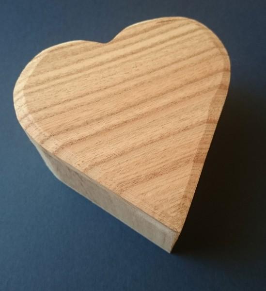 Holzschatulle Herz