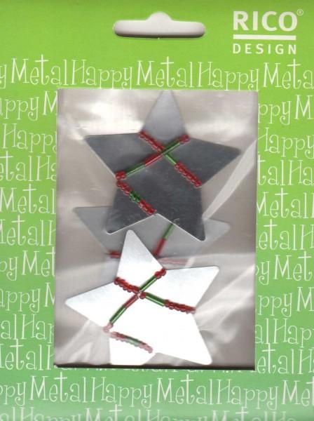 RICO DESIGN Happy Metal Metalldekore - XMAS Weihnachtsmotive