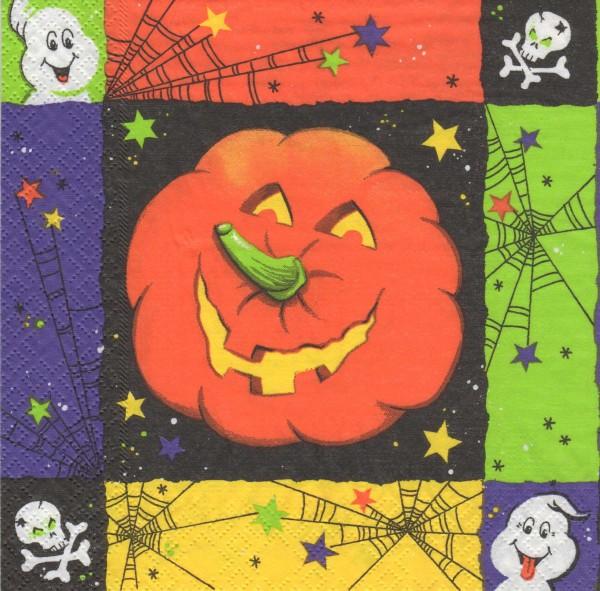 """Serviette - Halloween """"Kürbis"""""""