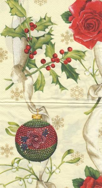 """Serviette - Weihnachten """"Beeren"""""""