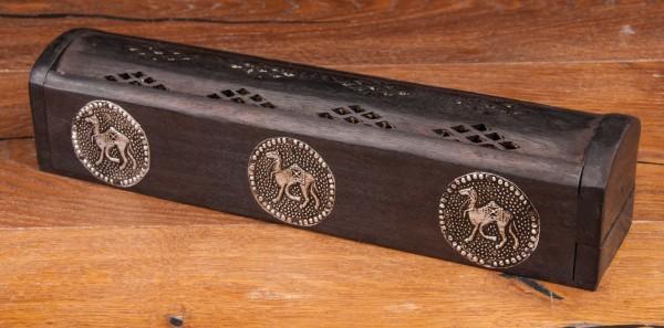 Räucherbox Camel Holz, schwarz