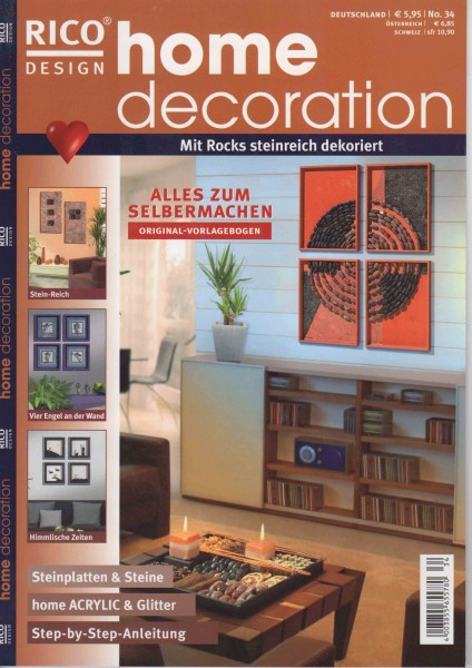 RICO DESIGN home decoration No. 34 - Mit Rocks steinreich dekoriert