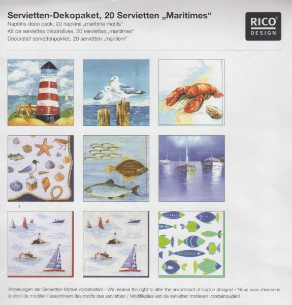 RICO DESIGN - Serviettenpaket - Maritimes